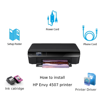 hp envy 4507 unboxing setup