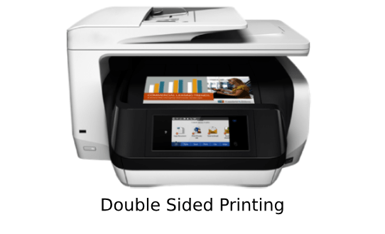 hp officejet pro 8730 double side printing